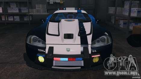Dodge Viper SRT-10 ACR ELITE POLICE [ELS] para GTA 4 vista lateral