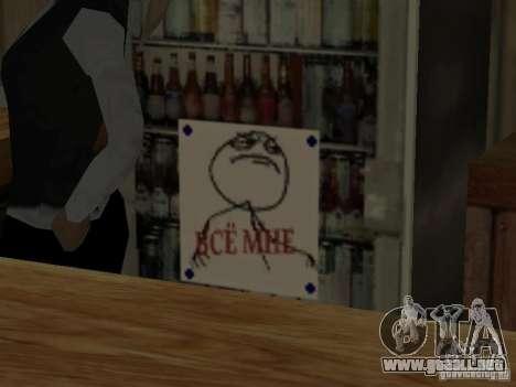 MIERDA de bar Sí para GTA San Andreas tercera pantalla