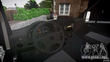 Mercedes Benz Sprinter Long Version para GTA 4 vista superior