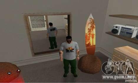 Día verde t-shirt para GTA San Andreas segunda pantalla