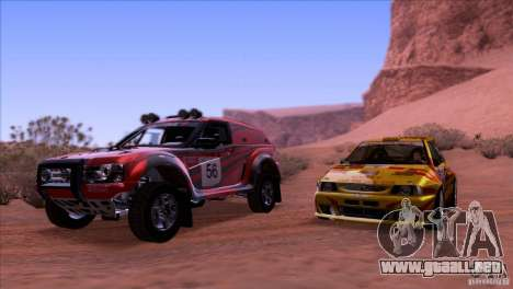 Seat Ibiza Rally para la vista superior GTA San Andreas