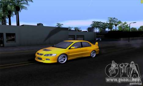 Mitsubishi Lancer Evolution IX 2006 para GTA San Andreas interior