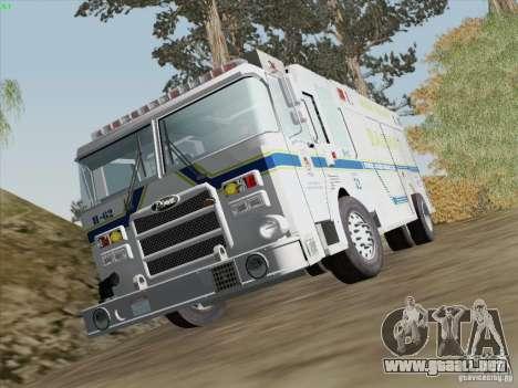 Pierce Fire Rescues. Bone County Hazmat para vista inferior GTA San Andreas