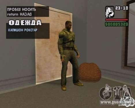 Ropa de un acosador para GTA San Andreas segunda pantalla