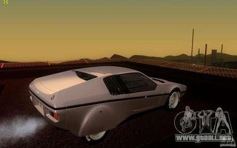 BMW Turbo 1972 para la visión correcta GTA San Andreas