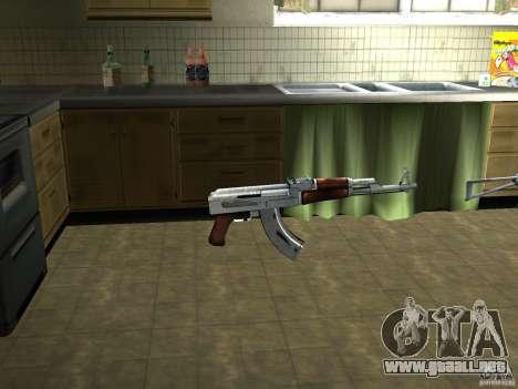 Pak versión doméstica armas 3 para GTA San Andreas segunda pantalla