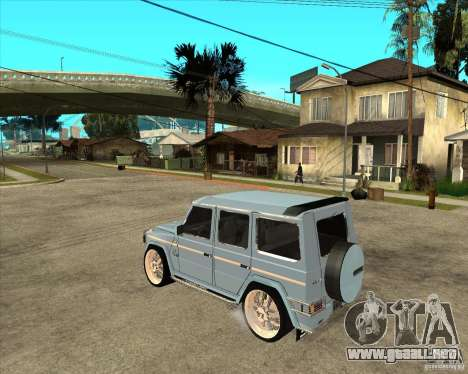 Mercedes Benz G 500 Brabus - Dub Edition para GTA San Andreas left