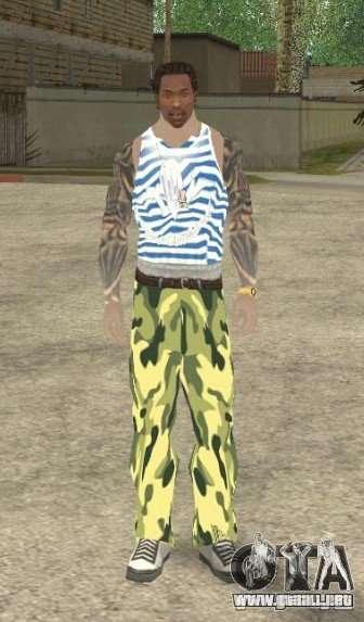 CJ VDV para GTA San Andreas segunda pantalla