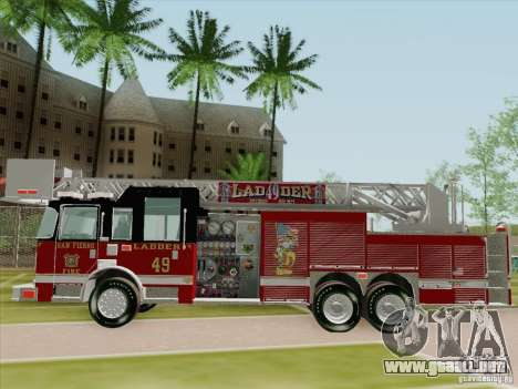 Pierce Rear Mount SFFD Ladder 49 para vista inferior GTA San Andreas