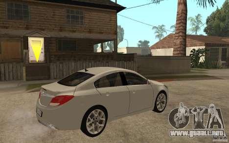 Opel Insignia OPC 2010 para la visión correcta GTA San Andreas