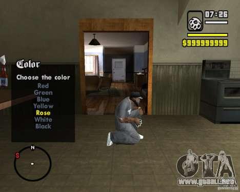 Change Hud Colors para GTA San Andreas segunda pantalla