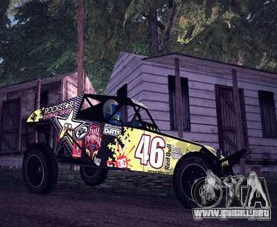 Buggy Monster energy para GTA San Andreas left