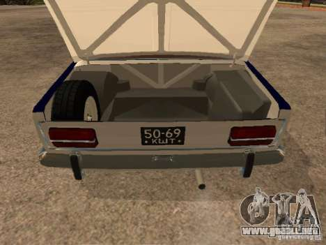 Policía VAZ 2103 para visión interna GTA San Andreas