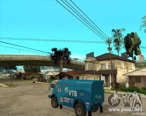 KAMAZ 4911 (2007) Rally Raid version para GTA San Andreas left