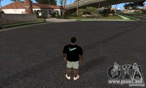 Camiseta de Nike para GTA San Andreas segunda pantalla