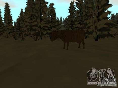 Camino de invierno para GTA San Andreas novena de pantalla