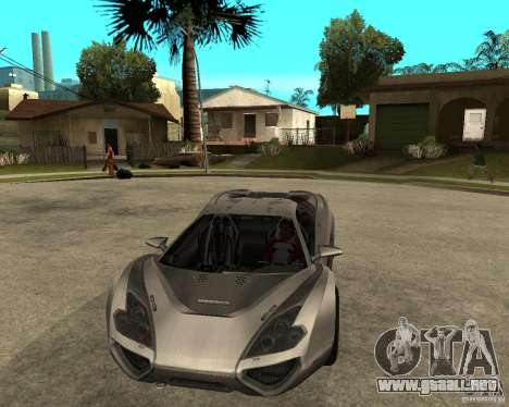 Nemixis para GTA San Andreas vista hacia atrás