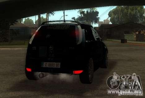 Opel Corsa GSI Rally para GTA San Andreas vista posterior izquierda