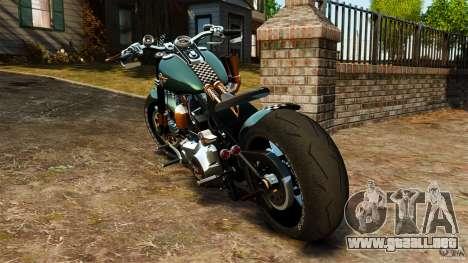 Harley Davidson Fat Boy Lo Racing Bobber para GTA 4 Vista posterior izquierda