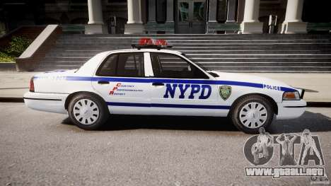 Ford Crown Victoria Police Department 2008 NYPD para GTA 4 left