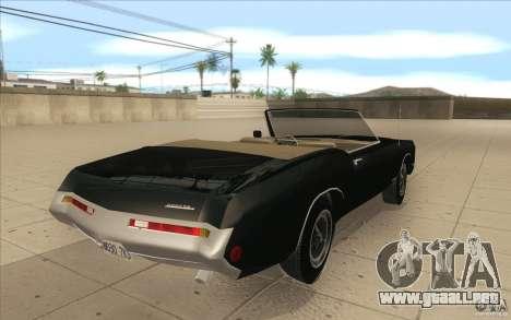 Buick Riviera GS 1969 para vista lateral GTA San Andreas