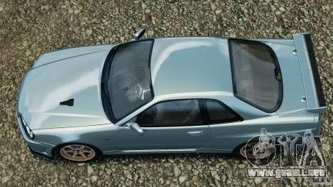 Nissan Skyline GT-R R34 2002 v1.0 para GTA 4 visión correcta