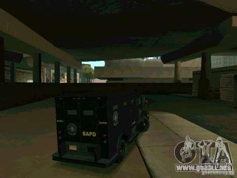 Stokade SAPD SWAT Van para la visión correcta GTA San Andreas