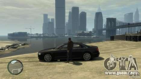 Audi A8 V8 FSI para GTA 4 visión correcta