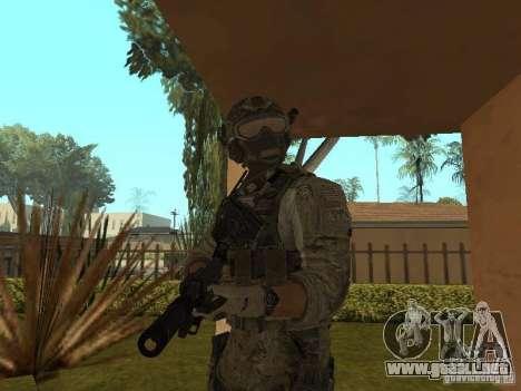 M4A1 con ACOG de CoD MW3 para GTA San Andreas tercera pantalla