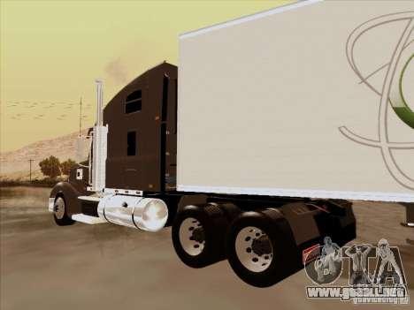 Freightliner Coronado para GTA San Andreas vista posterior izquierda