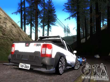 Fiat Strada para GTA San Andreas vista posterior izquierda