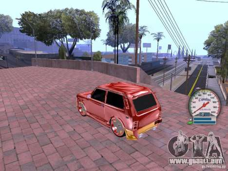 VAZ 21213 para GTA San Andreas vista hacia atrás