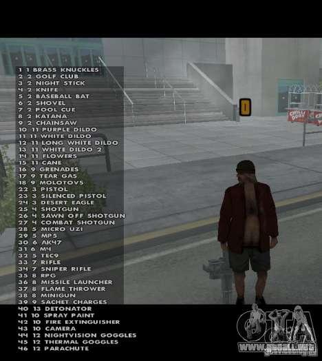 Weapon hacks para GTA San Andreas