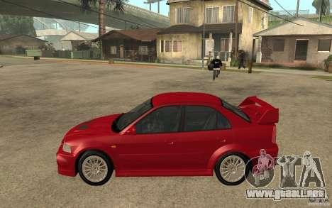 Mitsubishi Lancer Evolution VI GSR 1999 para GTA San Andreas left