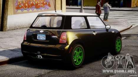 Mini Cooper S 2003 v1.2 para GTA 4 vista lateral