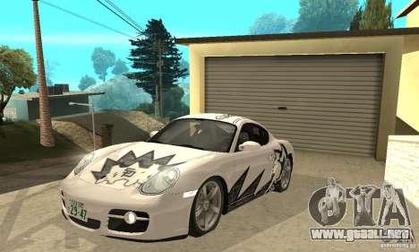 Porsche Cayman S para GTA San Andreas interior