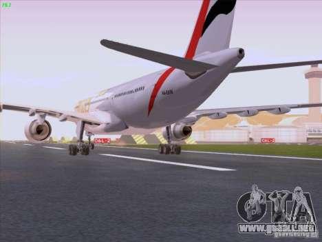 Airbus A330-200 Emirates para la visión correcta GTA San Andreas