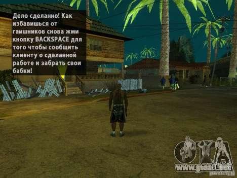Killer Mod para GTA San Andreas sucesivamente de pantalla