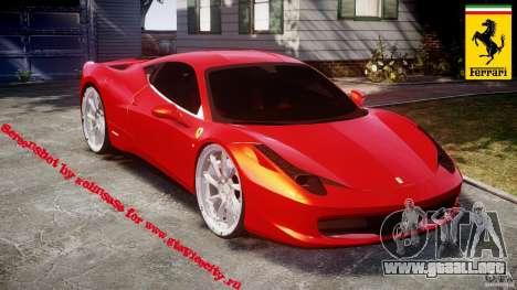 Ferrari 458 Italia Dub Edition para GTA 4