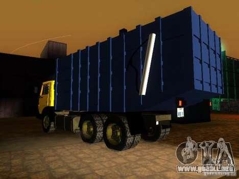 Camión KAMAZ 53212 basura para GTA San Andreas left