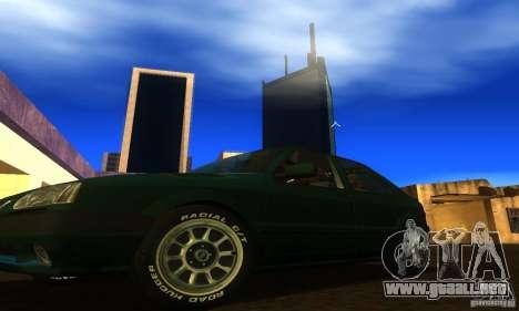Renault 19 PHASE II para visión interna GTA San Andreas