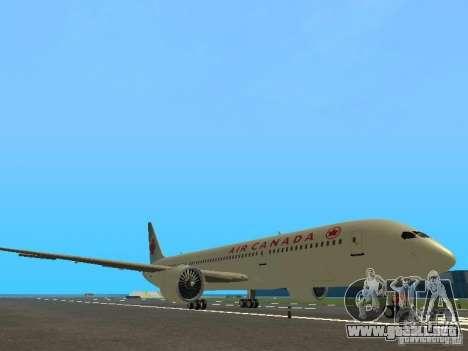Boeing 787 Dreamliner Air Canada para GTA San Andreas left