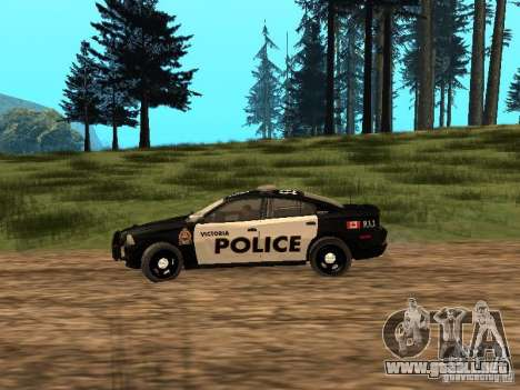 Dodge Charger Canadian Victoria Police 2011 para GTA San Andreas left