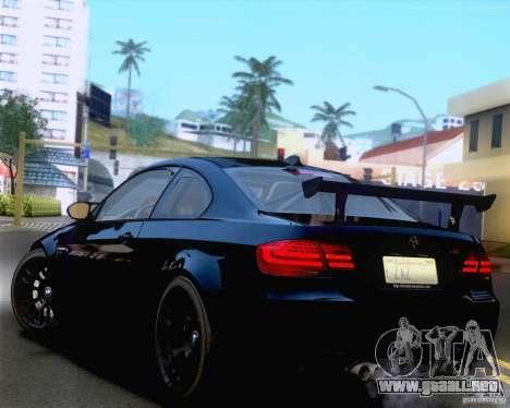 BMW M3 GT-S 2011 para vista lateral GTA San Andreas