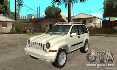 Jeep Liberty 2007 para GTA San Andreas