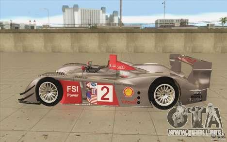 Audi R10 LeMans - Stock para GTA San Andreas left
