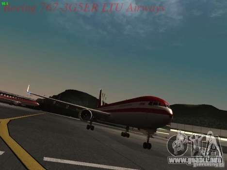 Boeing 767-3G5ER LTU Airways para GTA San Andreas left