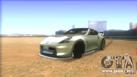 Nissan 370Z Drift 2009 V1.0 para la vista superior GTA San Andreas