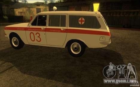 Ambulancia Volga GAZ-24 03 para GTA San Andreas vista posterior izquierda