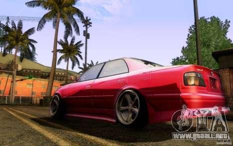 Toyota Chaser JZX100 para la visión correcta GTA San Andreas